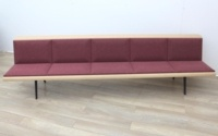 ARPER Five Person Bench Whit Oak Finish - Thumb 4