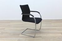 Brunner Black Fabric Cantilever Meeting Chair - Thumb 5