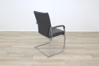 Brunner Grey Leather Cantilever Meeting Chair - Thumb 7