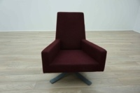 Hitch Mylius hm44 A Burghundy Office Reception Chair - Thumb 3