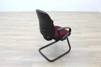 President Burgundy Fabric Office Meeting Chairs - Thumb 7