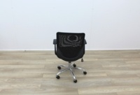 Black Operator Chairs With Mesh Back And Fabric Seat - Thumb 5
