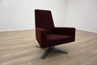 Hitch Mylius hm44 A Burghundy Office Reception Chair - Thumb 2