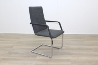 Brunner Fina Grey Fabric Cantilever Meeting Chair - Thumb 5