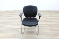 Orangebox Joy Black Leather Executive Office Meeting Chair - Thumb 5