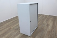 Triumph White Metal 1200mm Tambour Office Storage Cupboards - Thumb 4