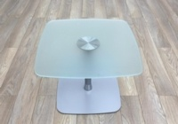 Frosted Glass Square Coffee Table 650mm - Thumb 2