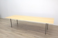 Golden Maple Veneer Office Meeting Table - Thumb 5