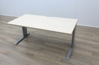 Maple 1600mm Straight Office Desks - Thumb 3