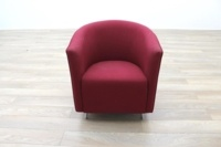 Orangebox Abbey Red Fabric Office Reception Tub Chairs - Thumb 4