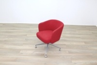Orangebox HAY Red Fabric Office Reception Tub Chairs - Thumb 3