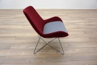 OrangeBox AVI Red / Grey Office Reception Lounge Chairs - Thumb 4