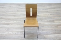 Beech Bentwood Stacking Office Canteen Chairs - Thumb 4
