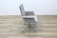 Brunner Grey Leather Meeting Chair - Thumb 6