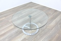 Boss Design Rota Circular Glass Office Coffee Table - Thumb 2