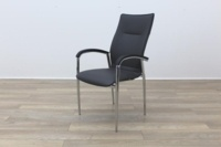 Brunner Dark Grey Leather Meeting Chair - Thumb 3
