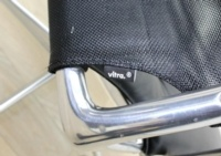 Vitra Meda Black Leather Seat Mesh Back Meeting Chair - Thumb 8