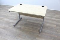 Maple 1200mm Cantilever Straight Office Desks - Thumb 4