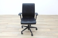 Steelcase Think Black Leather Office Task Chairs - Thumb 5