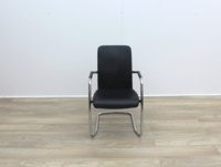 Black Leather Meeting Chairs - Thumb 2