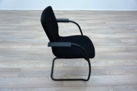 Orangebox GO Black Fabric Office Meeting Chairs - Thumb 4