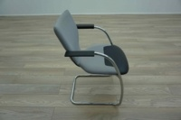 OrangeBox X10 Grey Fabric / Leather Cantilever Office Meeting Chairs - Thumb 5