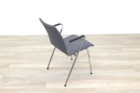 Brunner Light Grey Fabric Meeting Chair with Round Armrests - Thumb 7