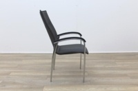 Brunner Dark Grey Leather Meeting Chair - Thumb 6