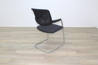 Brunner Black Mesh Back Grey Fabric Seat Meeting Chair - Thumb 7
