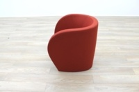Red Fabric Office Reception Tub Chairs - Thumb 6