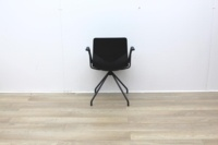 Four Grey Meeting Chair With Material Seat - Thumb 4