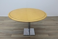 Golden Maple Round Meeting Table 1200mm - Thumb 3