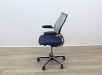 Humanscale Liberty Blue Fabric / Grey Mesh Office Task Chairs - Thumb 6