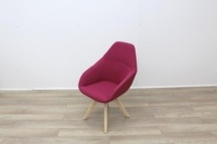 Pink Fabric Reception Chair - Thumb 2