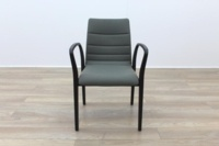 Brunner Olive Green Mahogany Frame Meeting Chair - Thumb 4