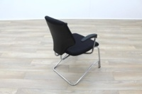 Giroflex Black Fabric Cantilever Office Meeting Chair - Thumb 7