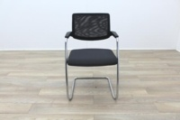 Brunner Black Mesh Back Grey Fabric Seat Meeting Chair - Thumb 4