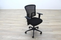 New Cancelled Order Black Fabric / Plastic Mesh Back Office Task Chairs - Thumb 4