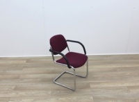 Purple Meeting Chairs With Chrome Frame And Black Arms - Thumb 6