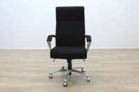 President High Back Black Fabric Executive Office Task Chair - Thumb 7