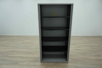 Bisley Grey 1950mm Tambour Office Storage Cupboards - Thumb 3