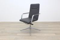 Brunner Dark Grey Leather High Back Executive Chair - Thumb 3