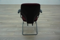 Giroflex G64 Cantilever Burghundy Office Meeting Chair - Thumb 5