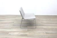 Arper Catifa 80 Sled Grey Leather Reception Chair - Thumb 6