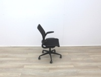 Humanscale Diffrient World Black Mesh Back And Fabric Seat Office Task Chairs - Thumb 6