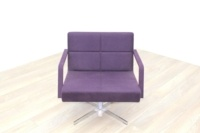 Brunner Purple Fabric Reception Chair - Thumb 2
