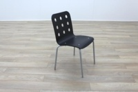 Black Wooden Office Canteen Chairs - Thumb 4