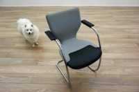 OrangeBox X10 Grey Fabric / Leather Cantilever Office Meeting Chairs - Thumb 2