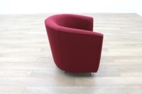Orangebox Abbey Red Fabric Office Reception Tub Chairs - Thumb 6