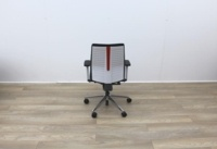 Senator Operator Chairs With White Back And Fabric Seat - Thumb 5